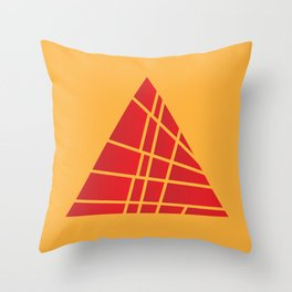 Sliced Red Pyramid Throw Pillow