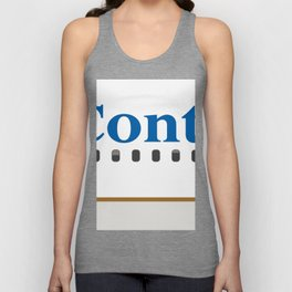 Plane Tees - Continental Airlines Unisex Tank Top
