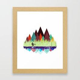 MTB retro Trails Framed Art Print