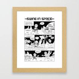 Swine in Space Framed Art Print