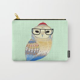 hipster owl Carry-All Pouch