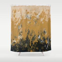 16 x 20 yellow-buff-black Shower Curtain
