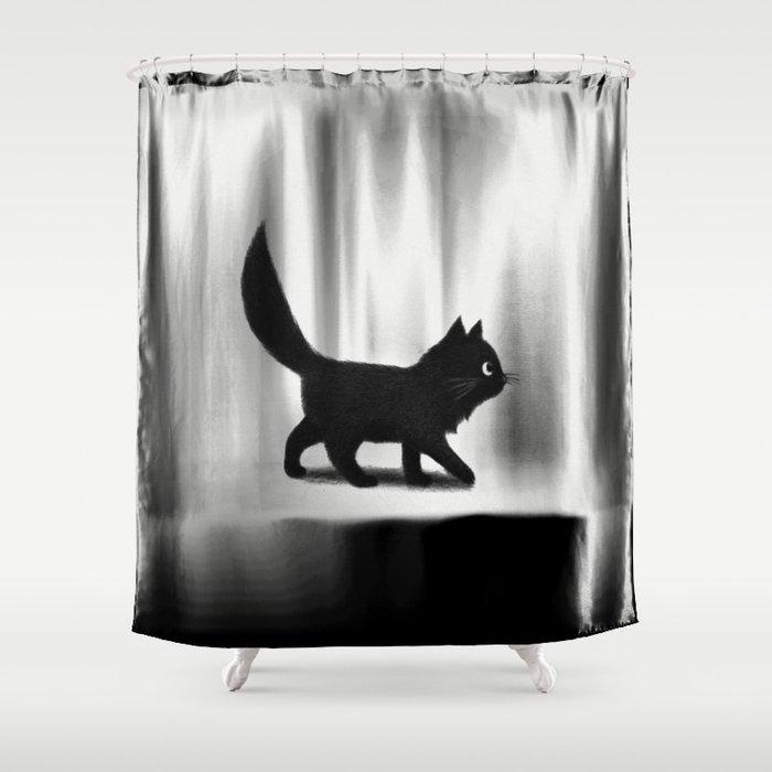 Creeping Cat Shower Curtain by igo2cairo | Society6