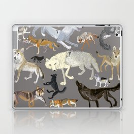 Wolves of the world poster Laptop & iPad Skin