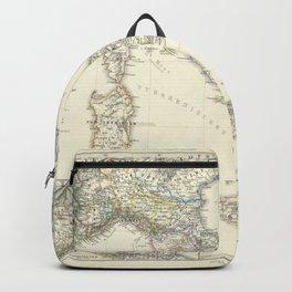 Vintage Map - Spruner-Menke Handatlas (1880) - 27 Italy before the Peace of Campoformio, 1492 - 1797 Backpack