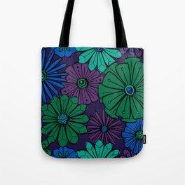 Jewel Flowers Tote Bag
