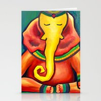 ganesha Stationery Cards featuring Ganesha by Amanda Rose Whittaker
