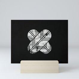 Kikuchi Clan · White Mon · Distressed Mini Art Print