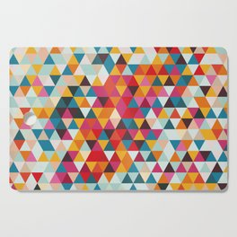 Vintage Summer Color Palette - Hipster Geometric Triangle Pattern Cutting Board