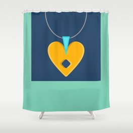 Simple Bling - Modern Bold Abstract Carnival Glass Shower Curtain