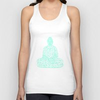 hologram Tank Tops featuring Triangular Traced Buddha by Makar Deku
