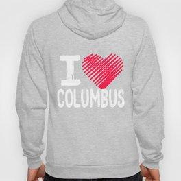I Love Columbus Ohio Tourist Gift Hoody