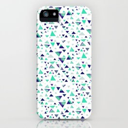 Hypnotic Triangles in Blue iPhone Case