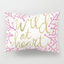 Wild at Heart – Pink & Gold Pillow Sham