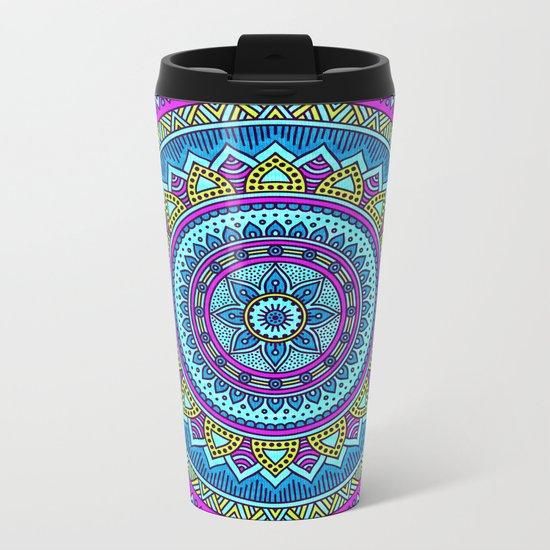 Hippie Mandala 20 Metal Travel Mug