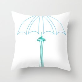 Rainy Dae Throw Pillow