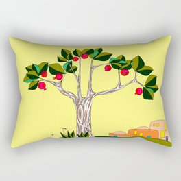 A Pomegranate Tree in Israel in the Day Rectangular Pillow