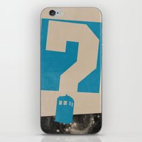 doctor who iPhone & iPod Skins featuring Doctor  Who? by Travis English