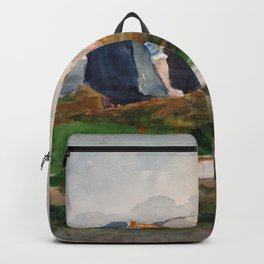 Winslow Homer1 - The Mussel Gatherers - Digital Remastered Edition Backpack
