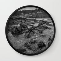 agnes cecile Wall Clocks featuring St Agnes From The Sea by Mark Nelson