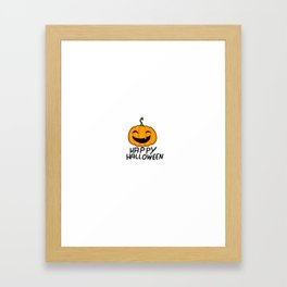 Happy Pumpkin Framed Art Print