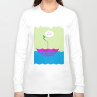 sailing Long Sleeve T-shirts featuring sailing by dabones
