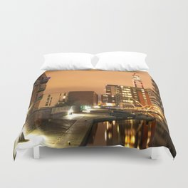 Birmingham and Fazeley Canal At Fleet Street Duvet Cover
