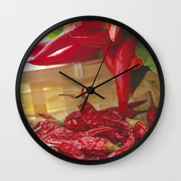 Hot chili pepper for kitchen design Wall Clock