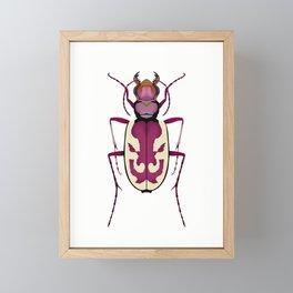 Blowout Tiger Beetle Framed Mini Art Print