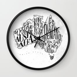 Map Australia vintage Wall Clock