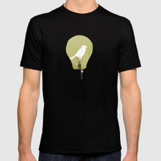 ideas take flight Black Mens Fitted Tee X-LARGE