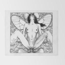 asc 721 - La collectionneuse (Pinned through and through) Throw Blanket