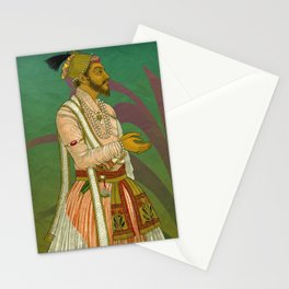 2 Mughals on Green Stationery Cards