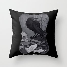 Once upon a Midnight Dreary Throw Pillow