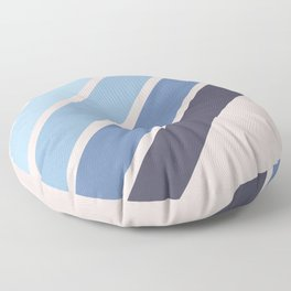 Blue Color Drift Floor Pillow
