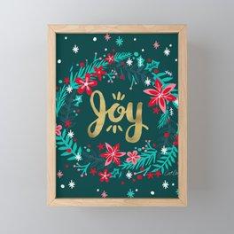 Joy Wreath – Teal Framed Mini Art Print