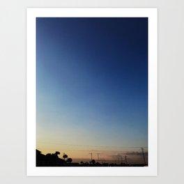 Sunset in Navarre Art Print