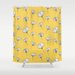 Ginkgo Biloba Leaves Pattern #society6 #decor #buyart Shower Curtain