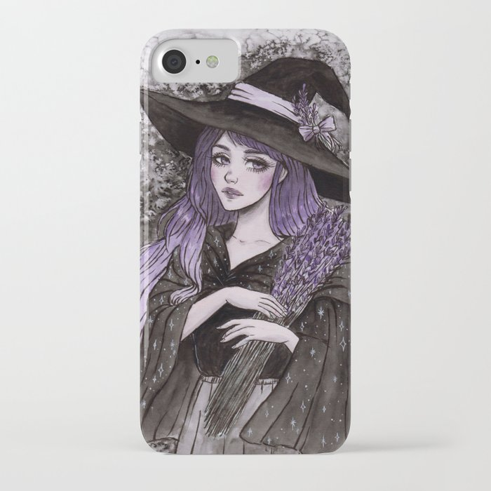 Lavender Witch- Day6 Inktober iPhone Case