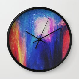Melted galaxia Wall Clock