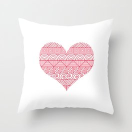 Patterned Valentine Throw Pillow