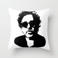 tim shumate Throw Pillows featuring Tim by b & c