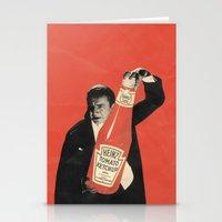 vegetarian Stationery Cards featuring Vegetarian Vampire by Karolis Butenas