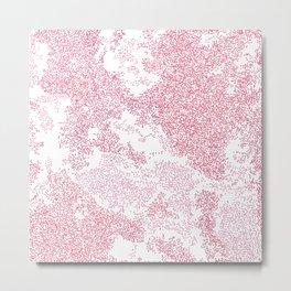 Pink Stipple Background Metal Print