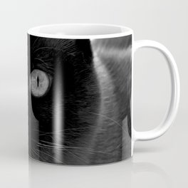 Siamese cat face, black and white animal photography Coffee Mug