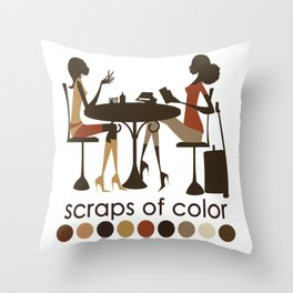 Scraps of Color Limited Edition T-shirt Throw Pillow