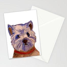 West highland terrier Westie dog love Stationery Cards