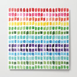 Rainbow Brushstrokes Metal Print