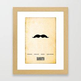 Bandito Minimalist! Framed Art Print
