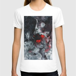 Red and Black Minimalist Abstract Painting T-shirt